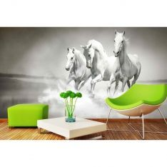 White Horses Poster Wall Paper