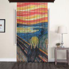 Edvard Munch - Çığlık Tül Perde