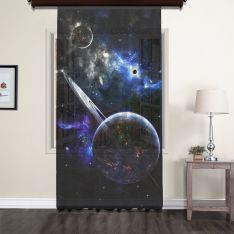 Fantasy Planets Space Tulle Curtain