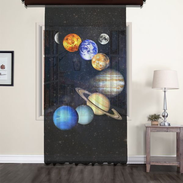 Güneş Sistemi Uzay Tül Perde