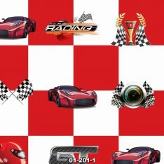 Red Checkers and Racer Wall Paper