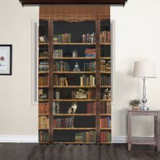 Bookshelf Tulle Curtain