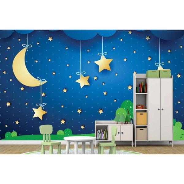 Mavi Gökyüzü ve Yıldızlar Poster Duvar Kağıdı