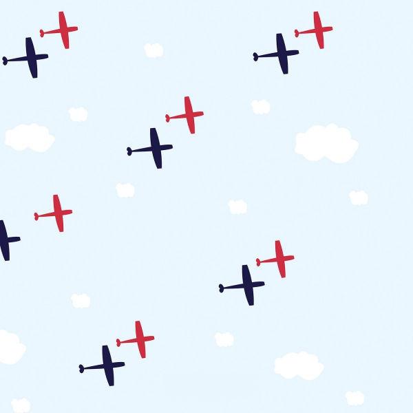 Mavi Zeminli Uçaklar Duvar Kağıdı