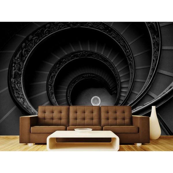 Oval Merdivenler Poster Duvar Kağıdı