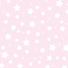Pink White Stars Wall Paper