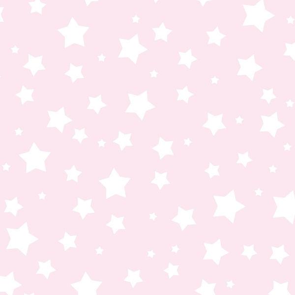 Pembe Beyaz Yıldızlar Duvar Kağıdı