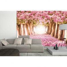 Pink Walkway Poster Wall Paper
