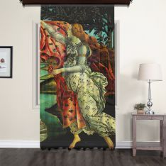 Sandro Botticelli - Venüs'ün Doğuşu Panel 3 Tül Perde