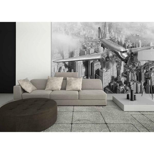 Siyah Beyaz Uçak Poster Duvar Kağıdı
