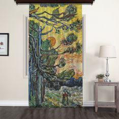 Vincent Van Gogh - Palm Trees Tulle Curtain