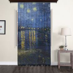 Vincent Van Gogh - Starry Night Over the Rhone Tulle Curtain