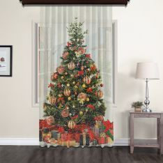 Chirstmas Tree Tulle Curtain