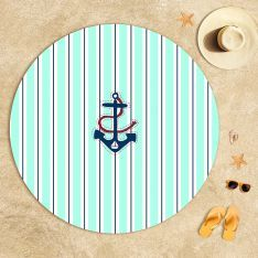 Big Anchor Beach Towel