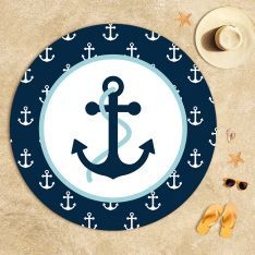 Anchor Composition Beach Towel