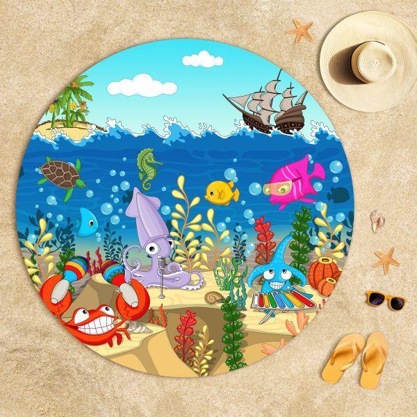 Cipcici Tiyatrosu Denizaltı Orkestrası Plaj Havlusu