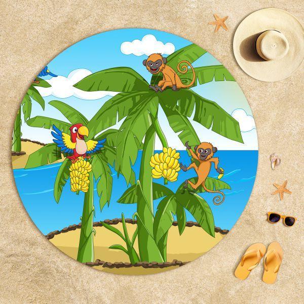 Cipcici Tiyatrosu Tropikal Kankalar Plaj Havlusu