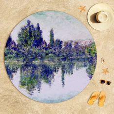 Claude Monet - Seine'de Sabah (Vetheuil yakınları) Plaj Havlusu - Claude Monet