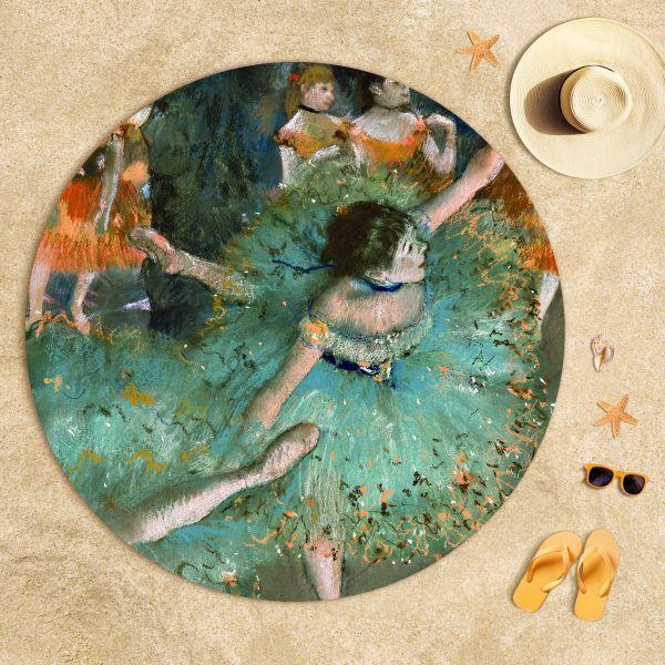 Edgar Degas - Yeşil Balerin Plaj Havlusu