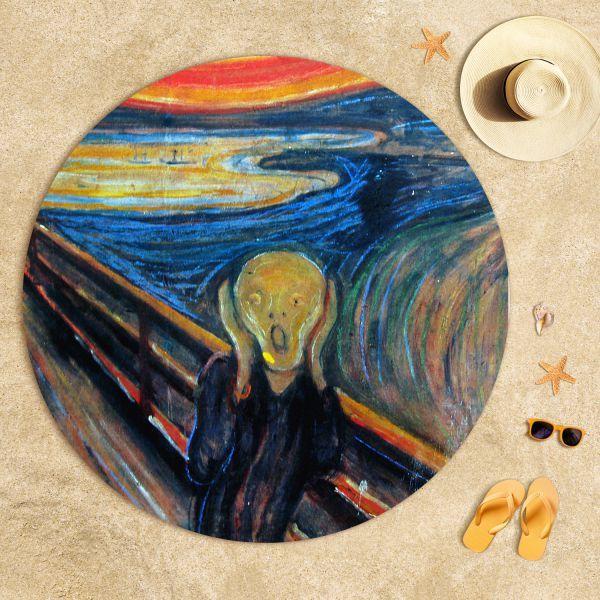 Edvard Munch - Çığlık Plaj Havlusu