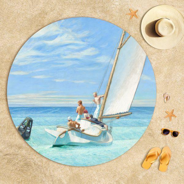 Edward Hopper-Dalgaların Kabarması Plaj Havlusu