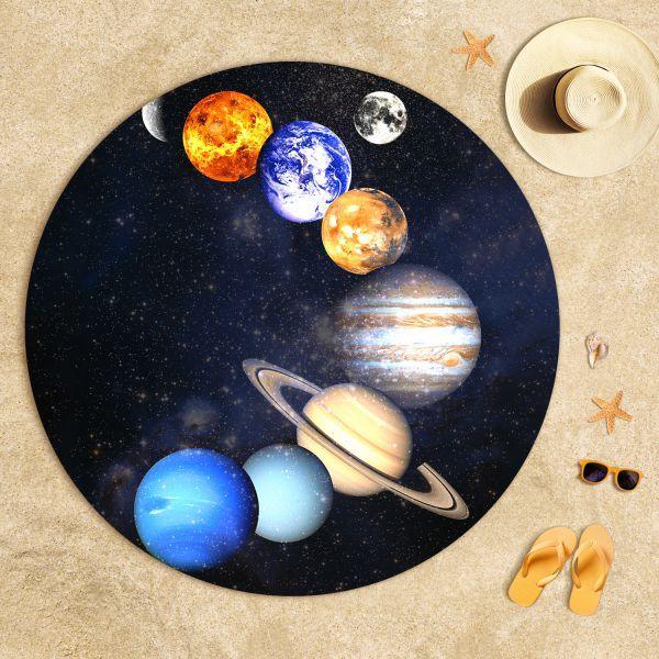 Güneş Sistemi Uzay Plaj Havlusu