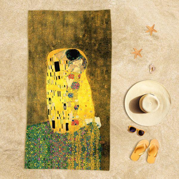 Gustav Klimt - Öpücük Plaj Havlusu