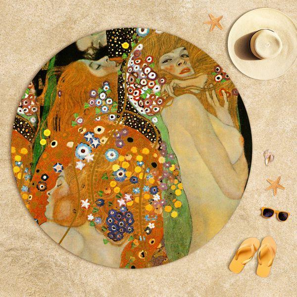 Gustav Klimt - Su Yılanları 2 Plaj Havlusu