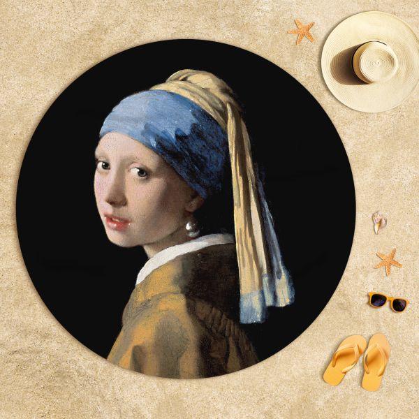 Johannes Vermeer - İnci Küpeli Kız Plaj Havlusu
