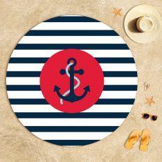 Kırmızı Çapa Plaj Havlusu