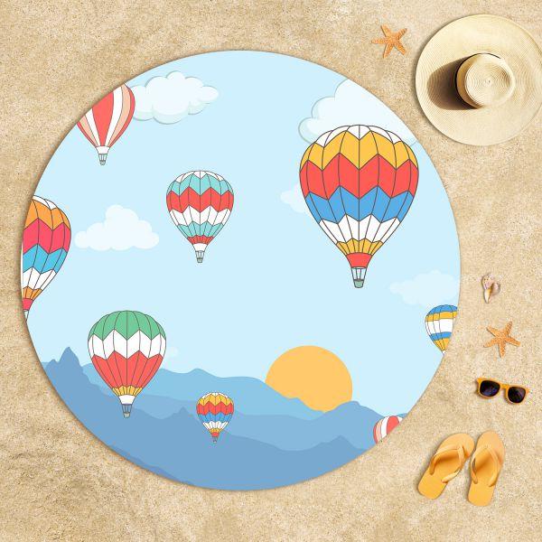 Uçan Balonlar Plaj Havlusu