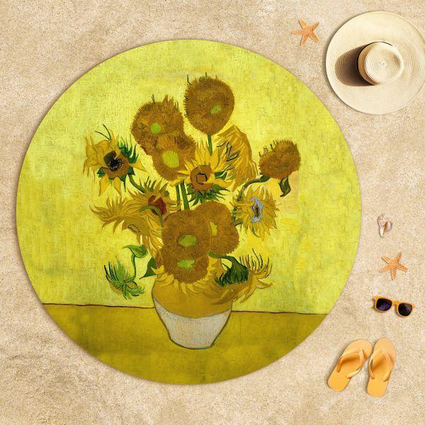 Vincent Van Gogh - Ayçiçekleri Plaj Havlusu