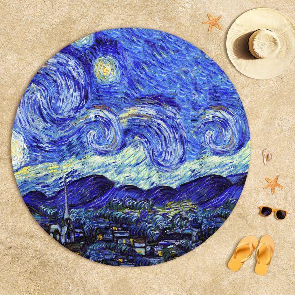 Vincent Van Gogh - Yıldızlı Gece Plaj Havlusu