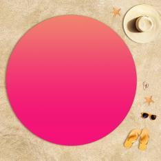 Light Pink-Dark Pink Degrade Beach Towel