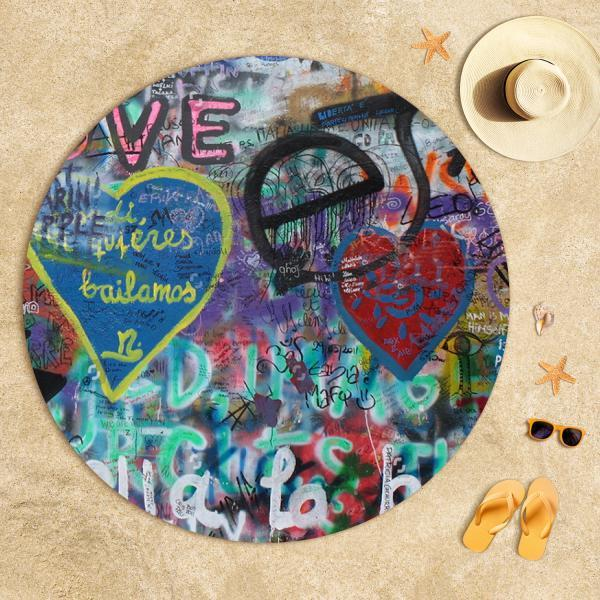 Graffiti Kompozisyon 2 Plaj Havlusu