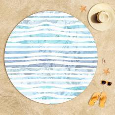 Mandala Desenli Balık Plaj Havlusu