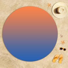 Blue-Orange Degrade Beach Towel
