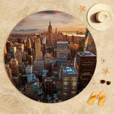 New York Manzarası Plaj Havlusu