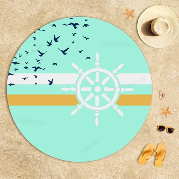 Plaj Dümen Desenli Havlusu