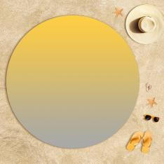 Sarı-Ekru Degrade Plaj Havlusu