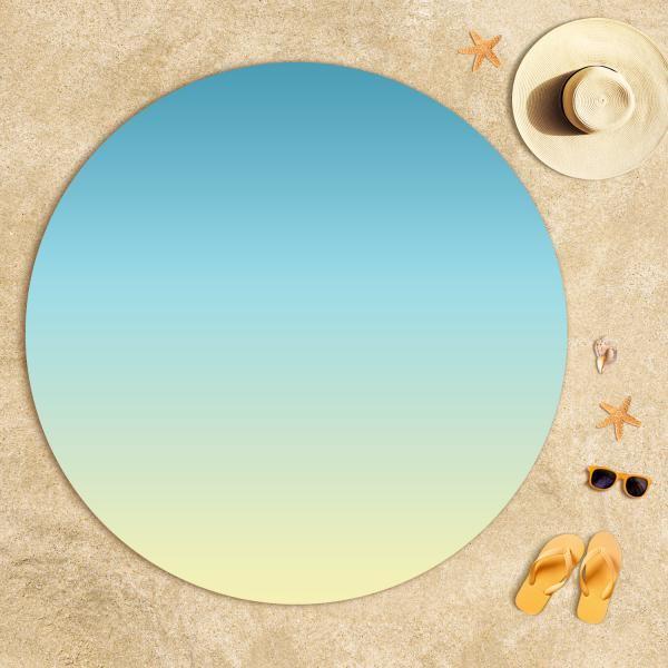 Sarı Mavi Degrade Plaj Havlusu