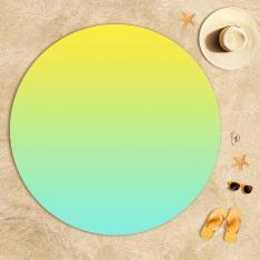 Sarı Mint Yeşili Degrade Plaj Havlusu