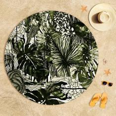 Tropikal İnce Yapraklı Plaj Havlusu