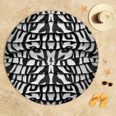 Zebra Desenli Plaj Havlusu