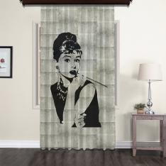 Audrey Hepburn Nostalgic Tulle Curtain