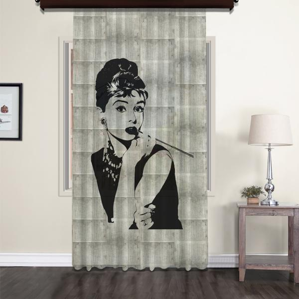 Audrey Hepburn Nostaljik Tül Perde