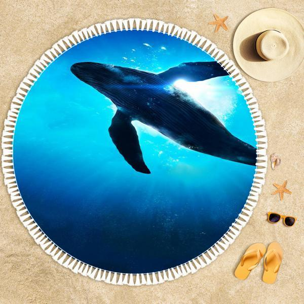 The Dance of the Whale Beach Towel