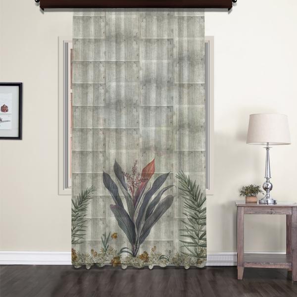 Flowers Nostalgic Tulle Curtain