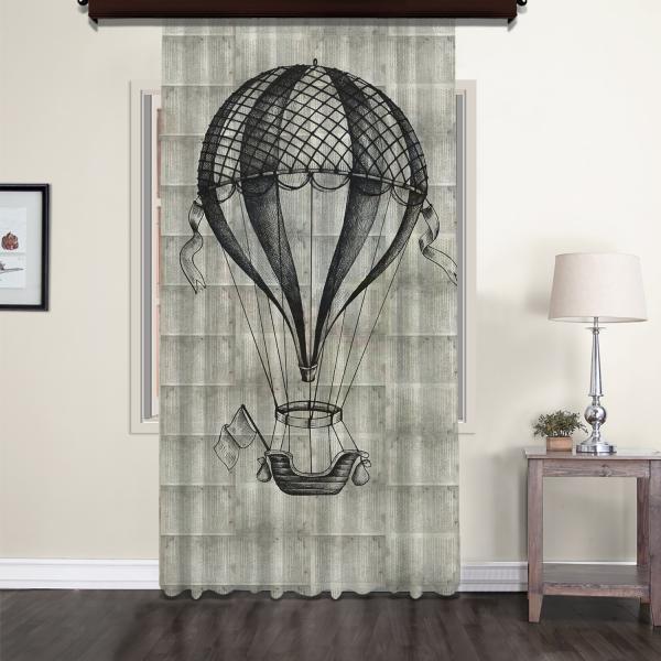 Lineer Flying Balloon Nostalgic Tulle Curtain