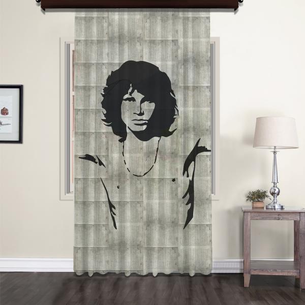 Jim Morrison Nostaljik Tül Perde